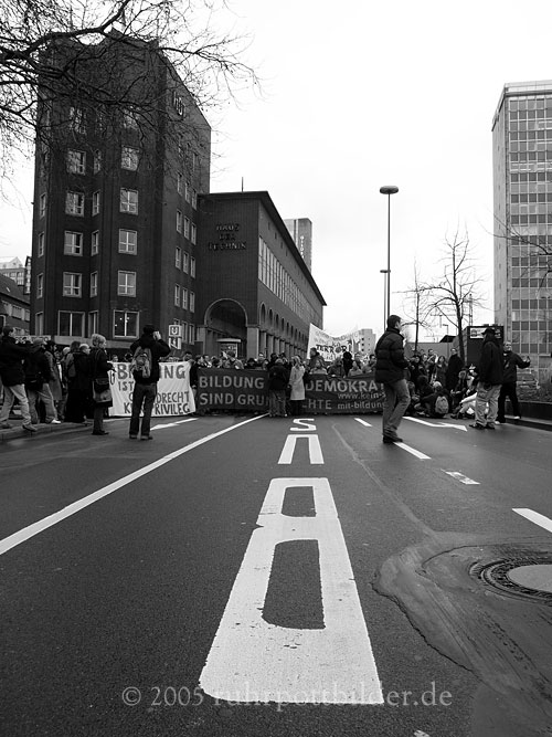 Studentenprotest in Essen
