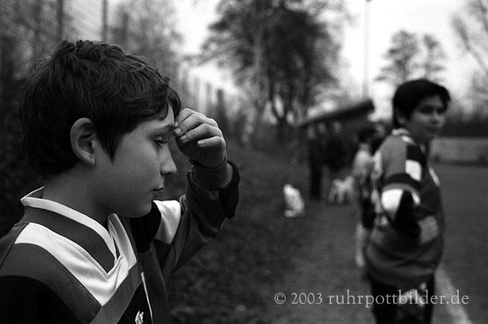 Luis beim E-Jugend-Spiel in Bochum-Laer