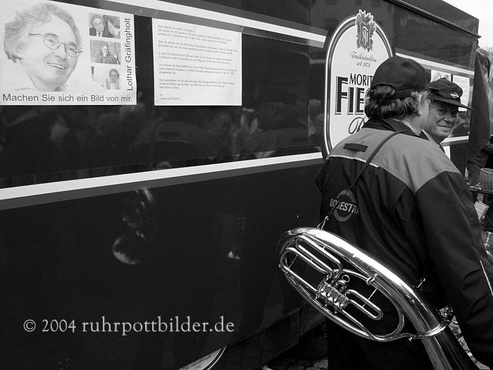 Bogestra-Musiker auf dem Dr.-Ruhr-Platz